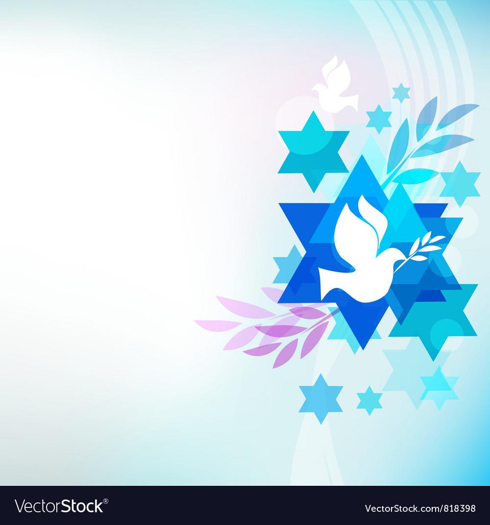 Jewish symbols vector