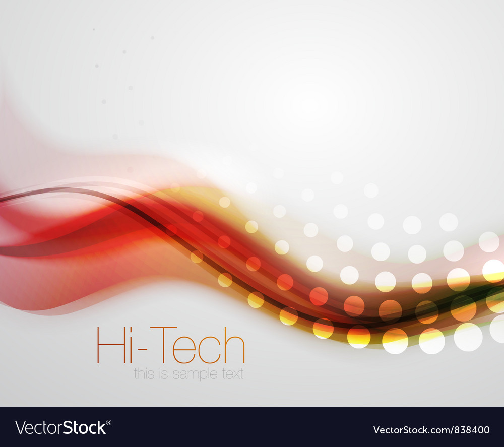Abstract wave line background vector
