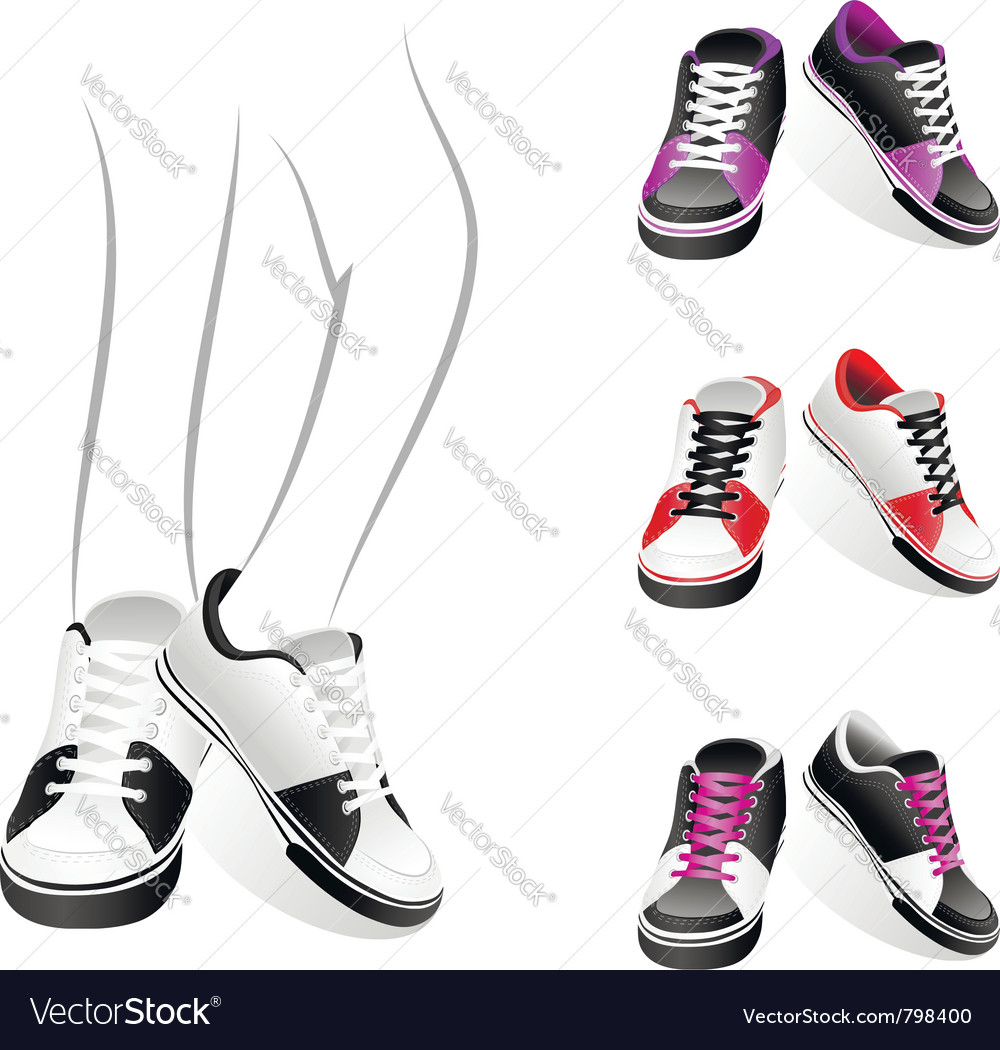 Stylish sports shoes vector