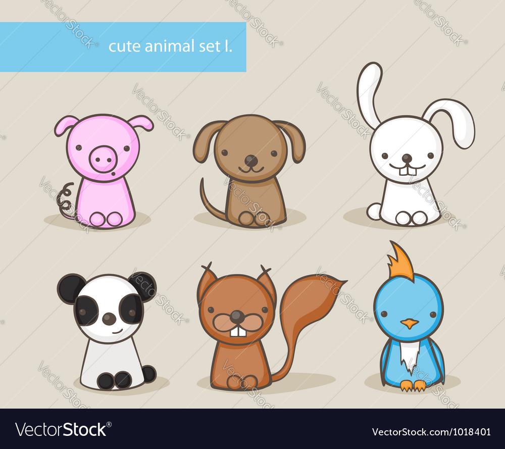 Animal set 1 vector