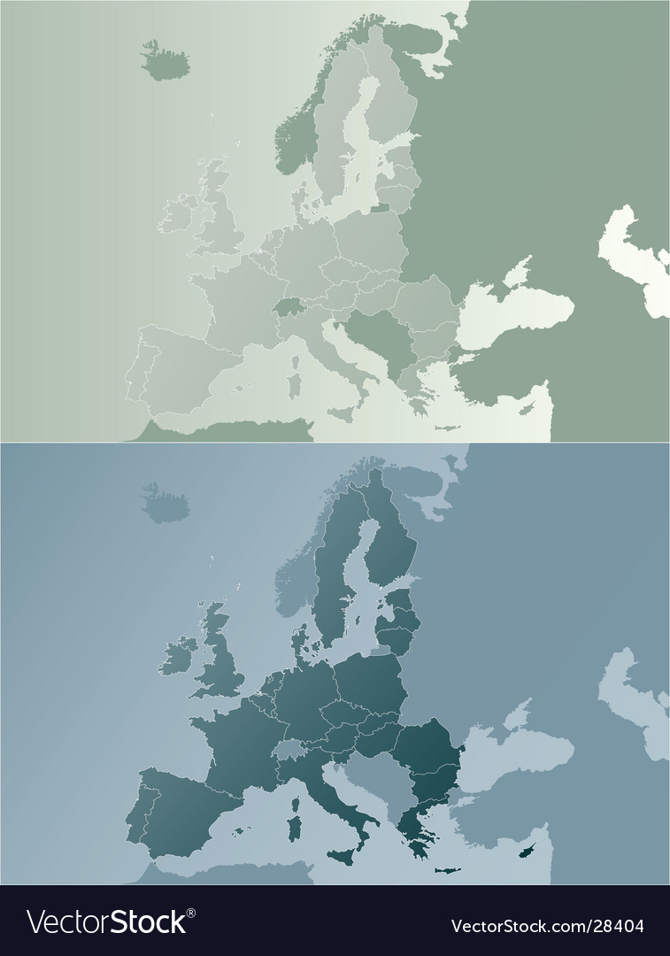 European union earthtones map vector