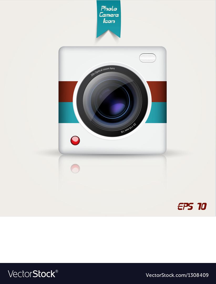 Camera app icon vector