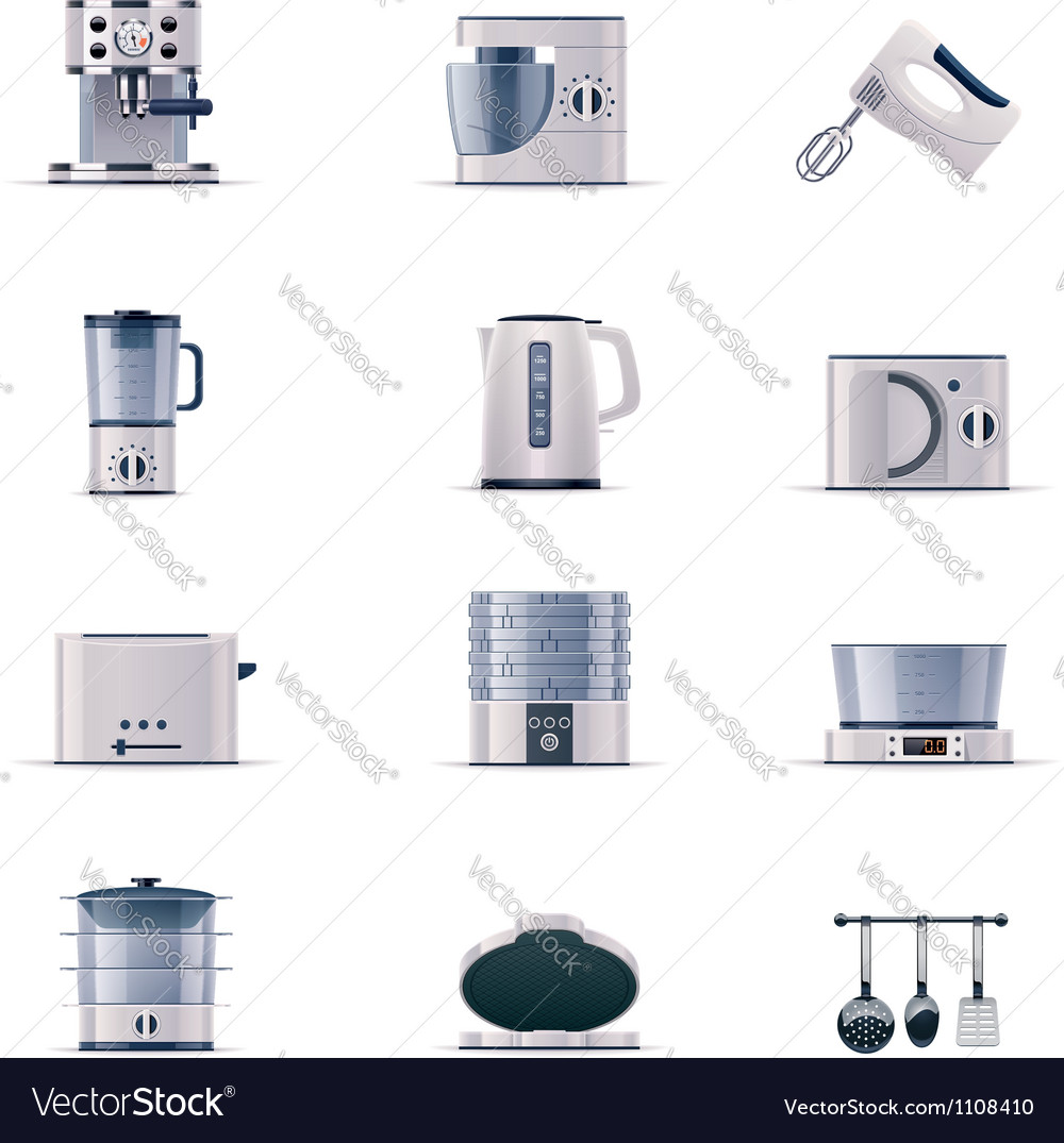 Part two of domestic appliances set vector