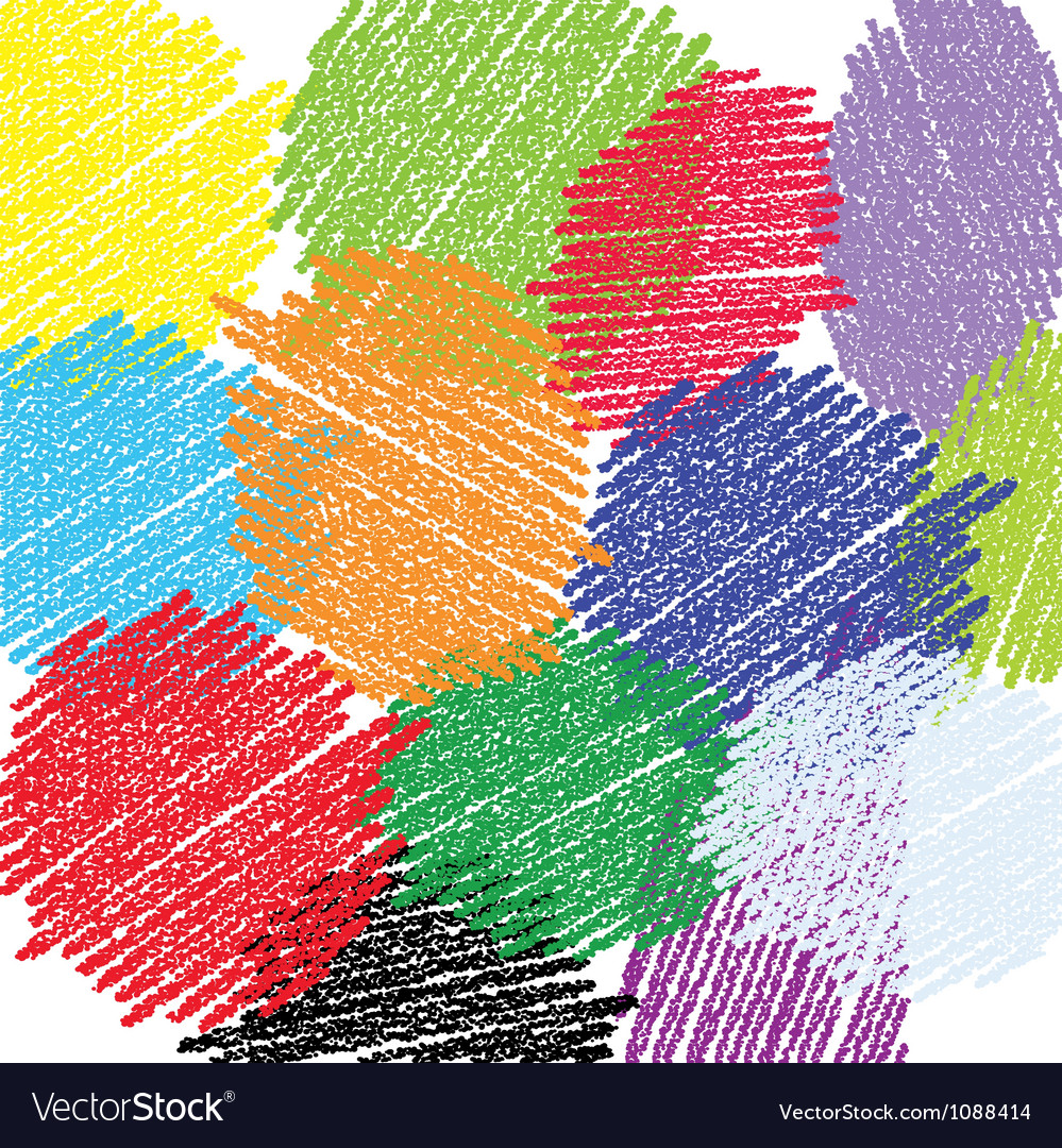 Crayon circles background vector