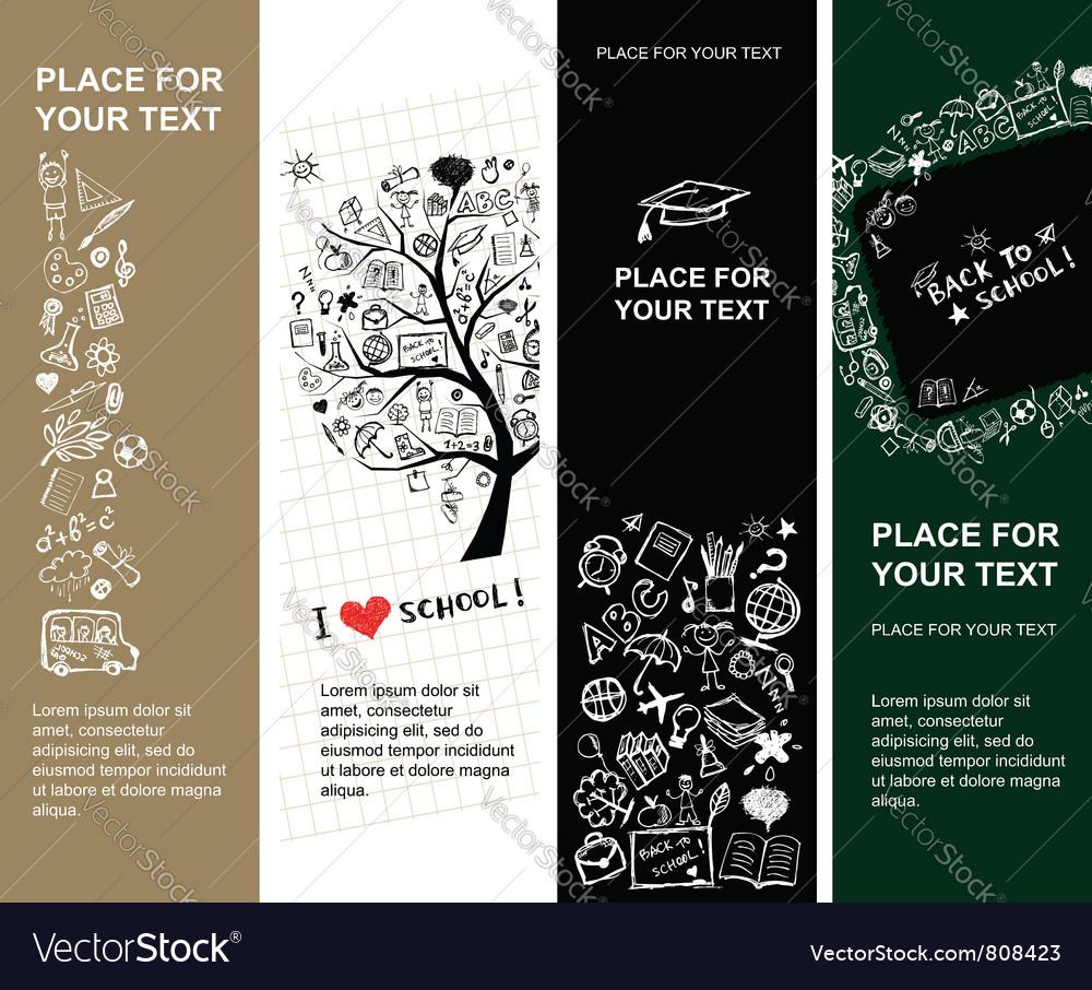 School banners vector