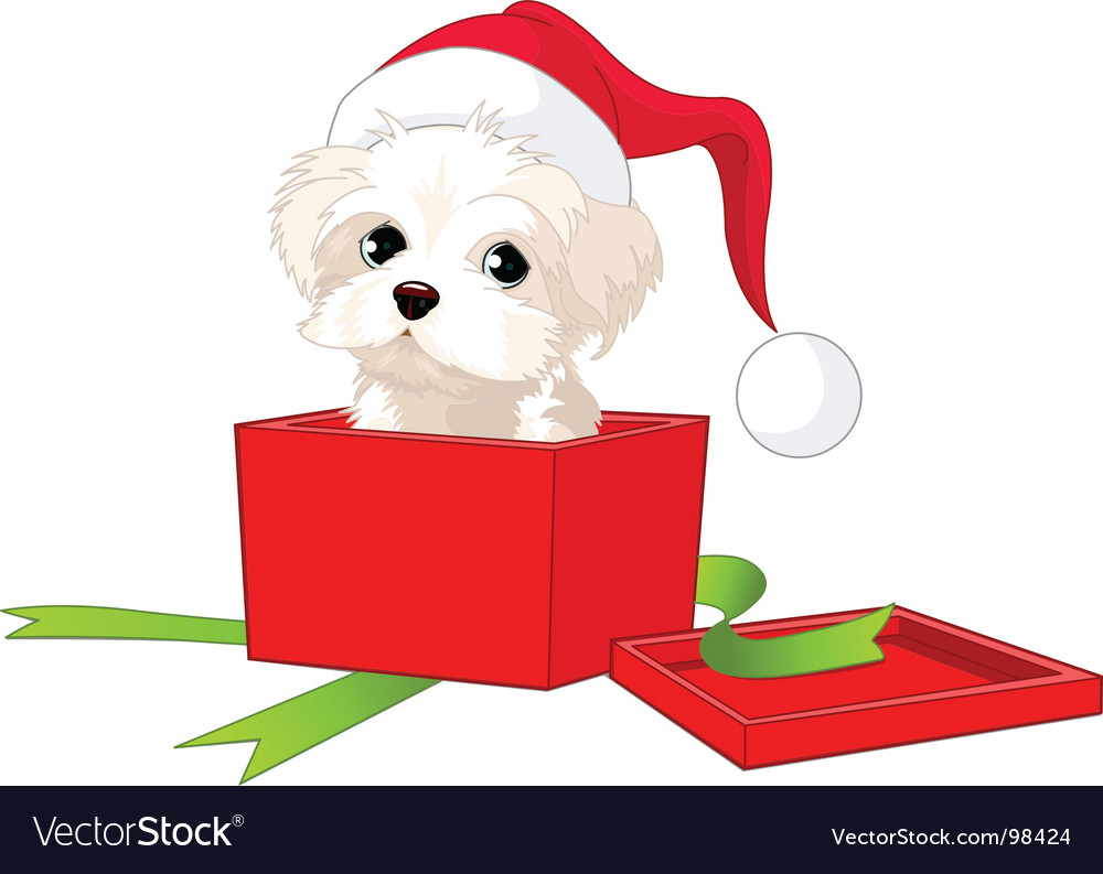 Puppy gift vector