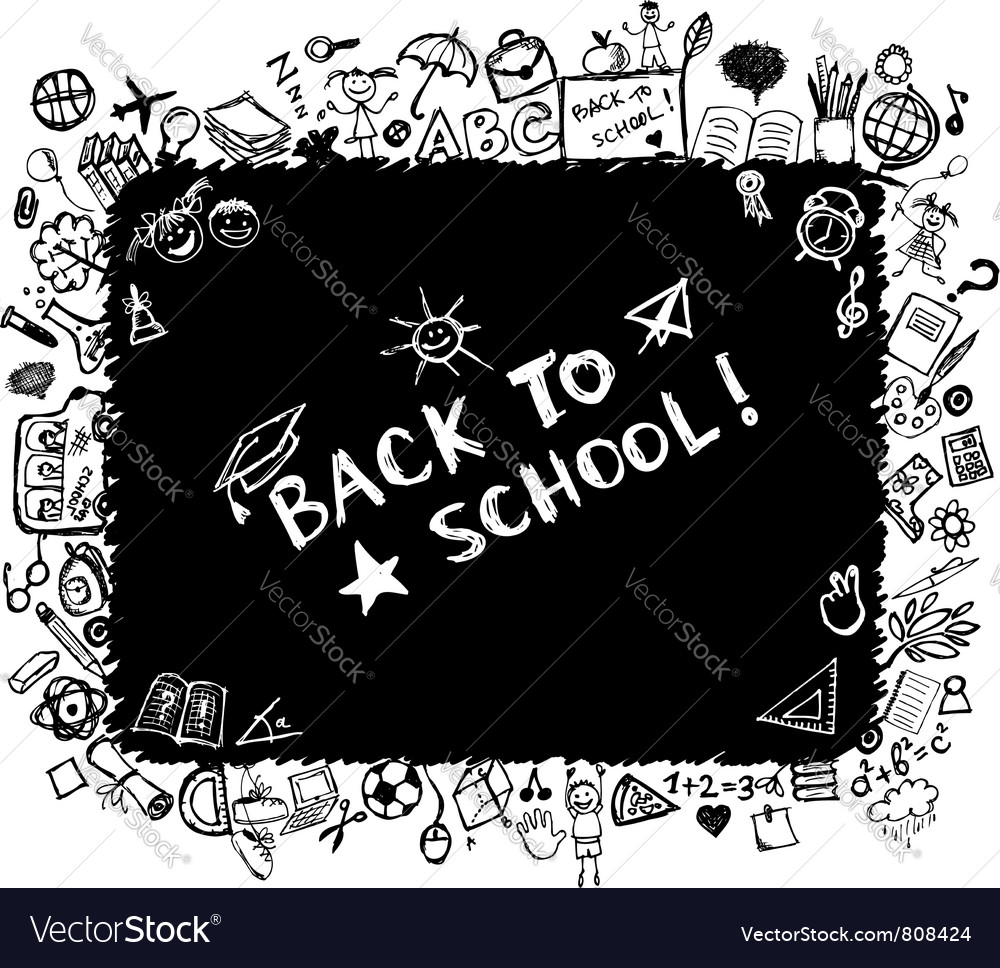 School frame vector