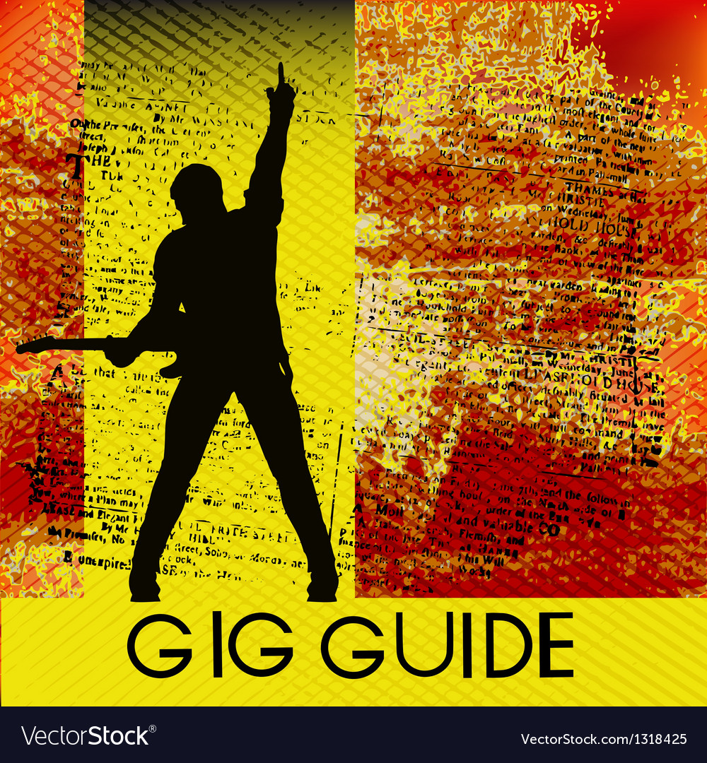 Gig guide vector