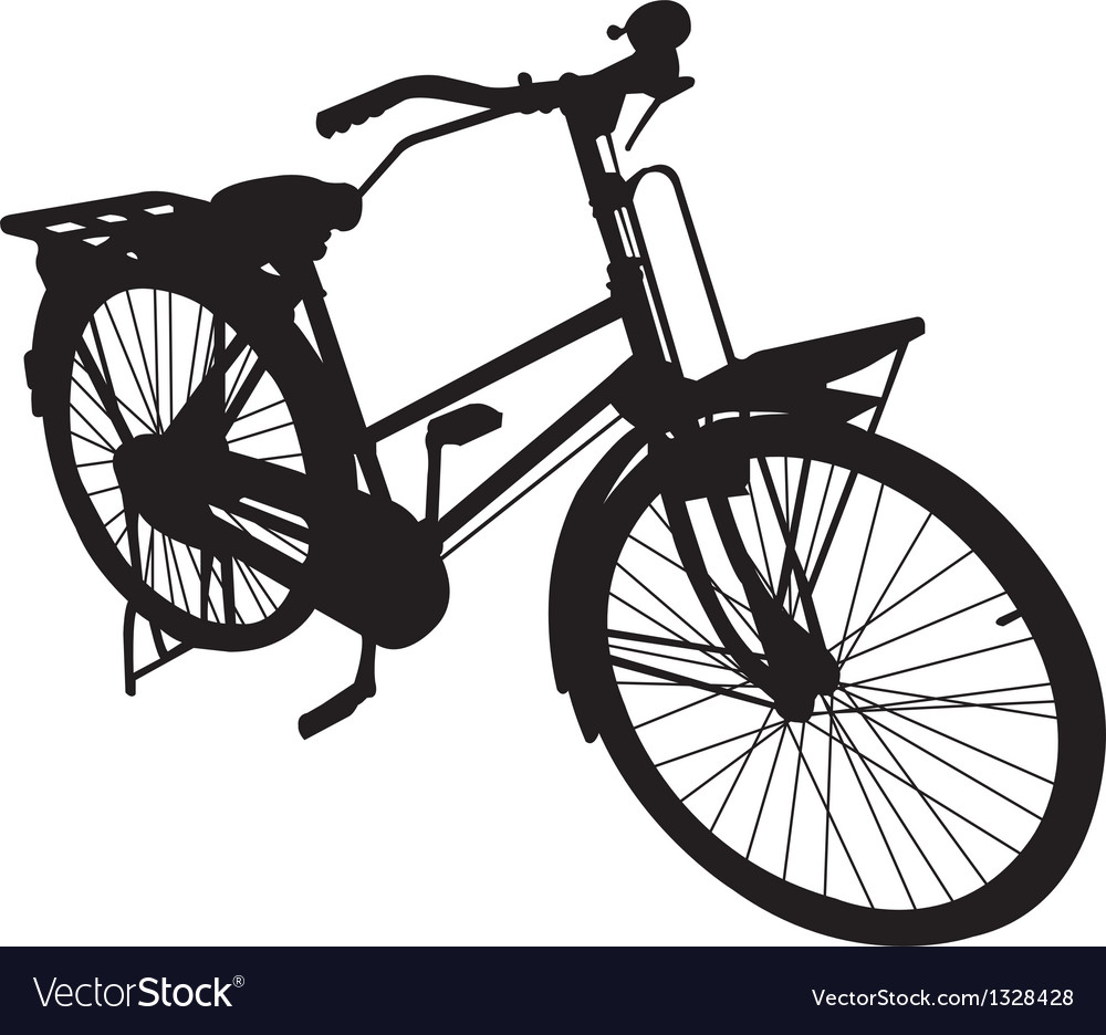 Bicycle bike siluate vector