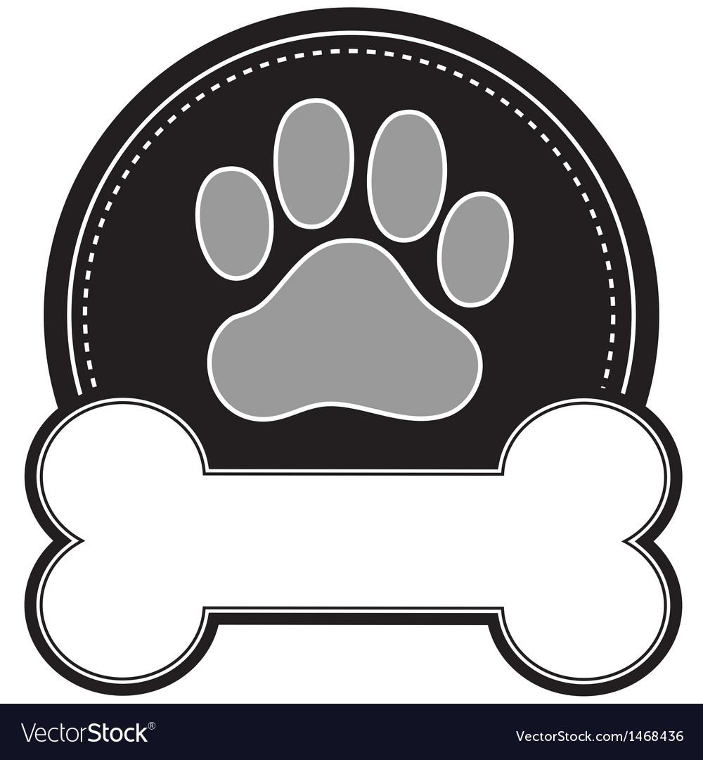 Dog bone and paw vector