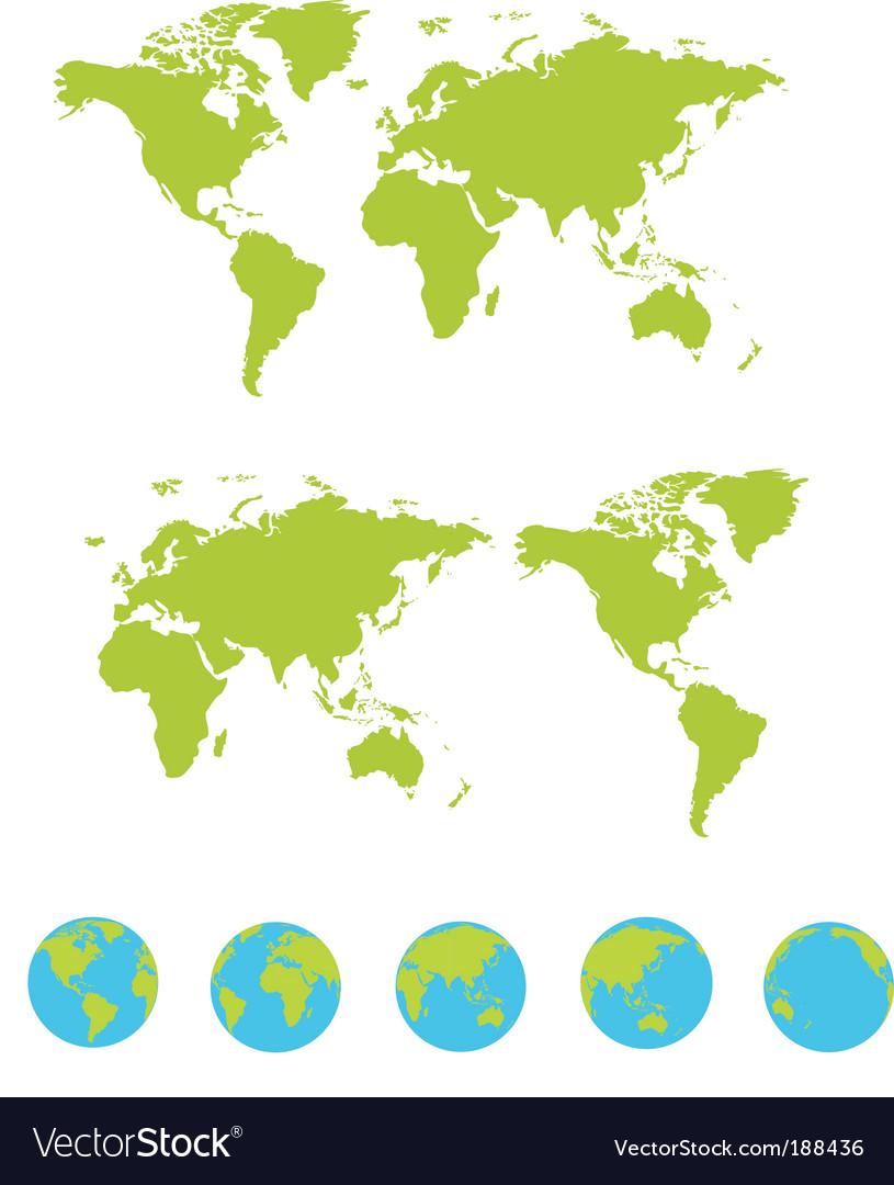 Maps set vector
