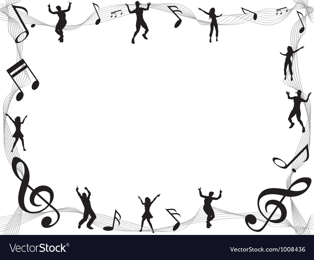 Musical border vector