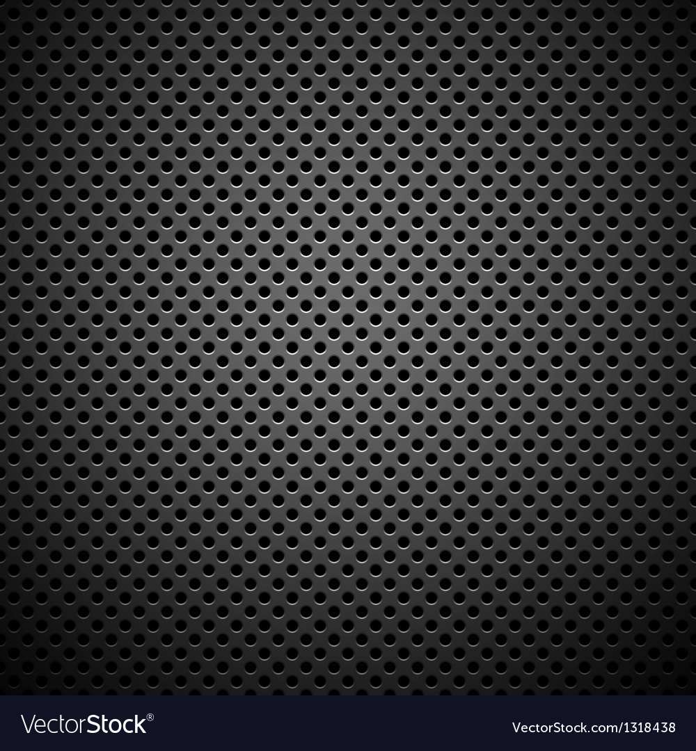 Seamless circle perforated carbon grill texture vector