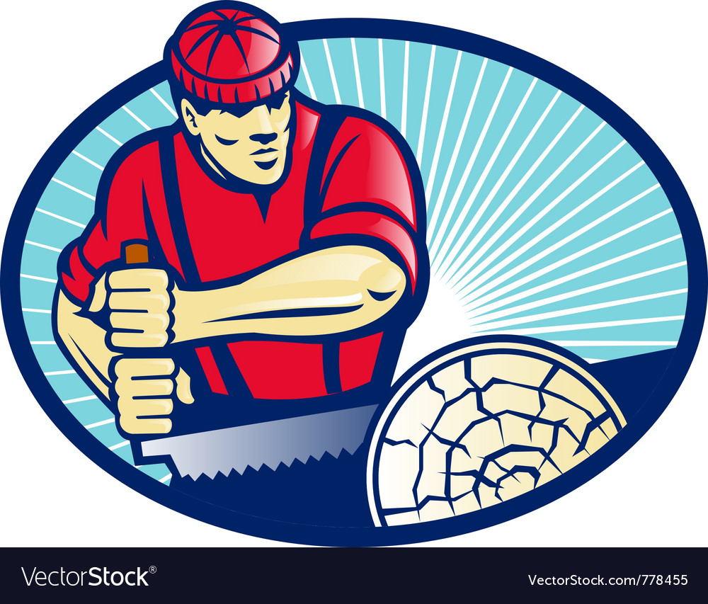 Lumber jack icon vector
