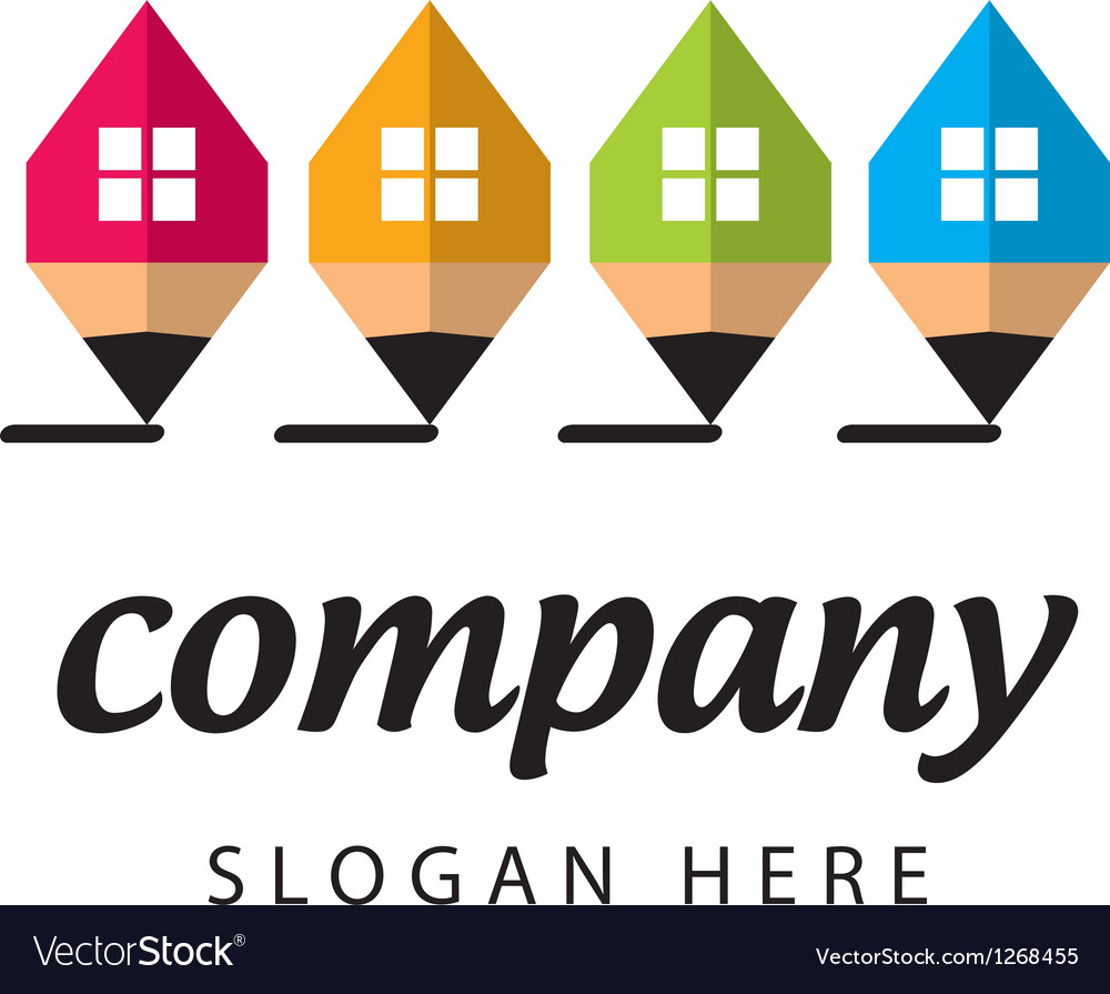 Stylized logo construction company vector