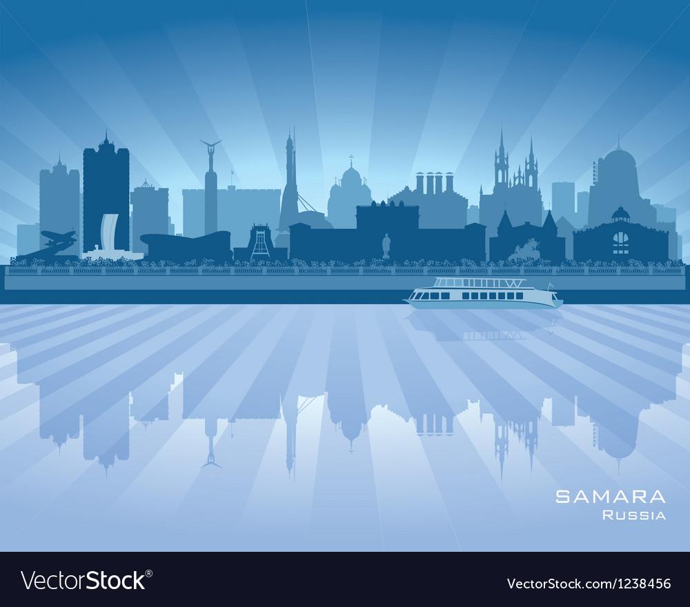 Samara russia skyline city silhouette vector