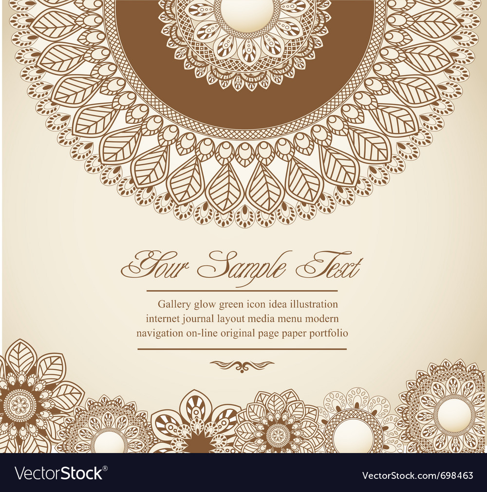 Hand-drawn flowers vector