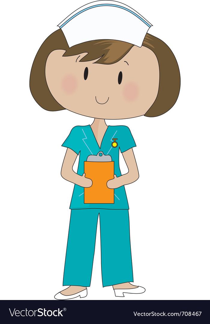 Nurse scrubs vector