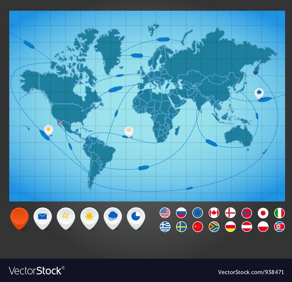 World map charts vector