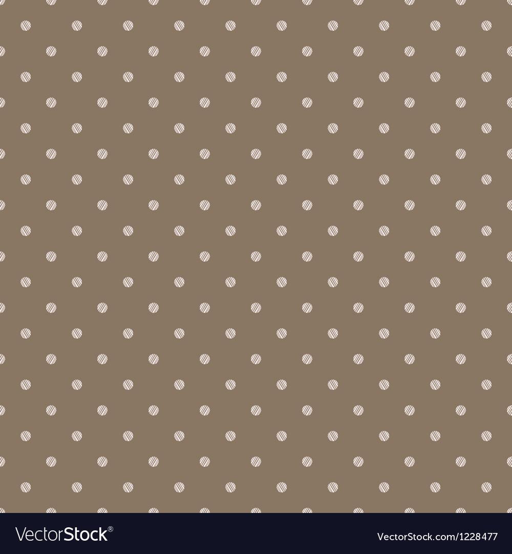 Vintage brown background with grunge polka dots vector