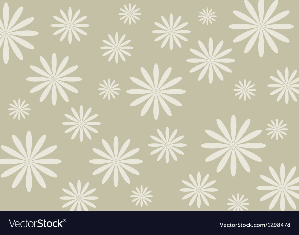 White flower on the silver background vector