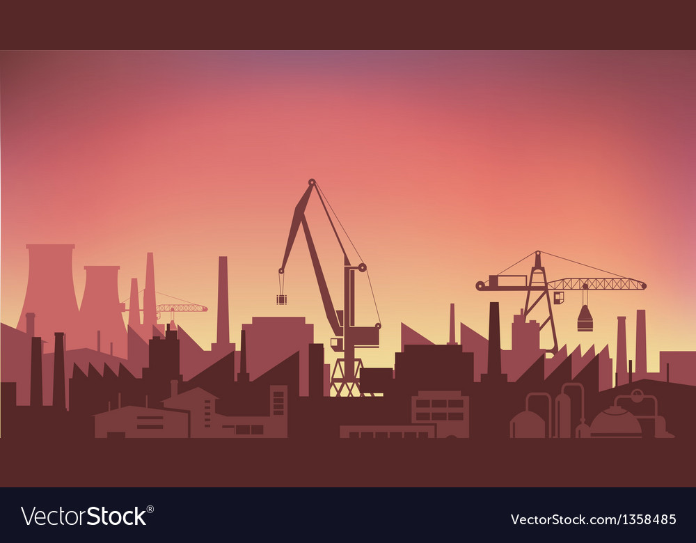 Industrial plant vector