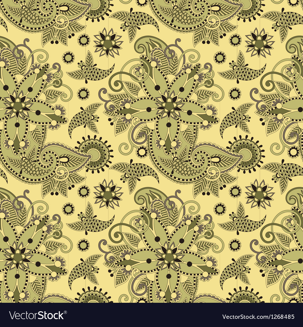 Seamless flower paisley design vector