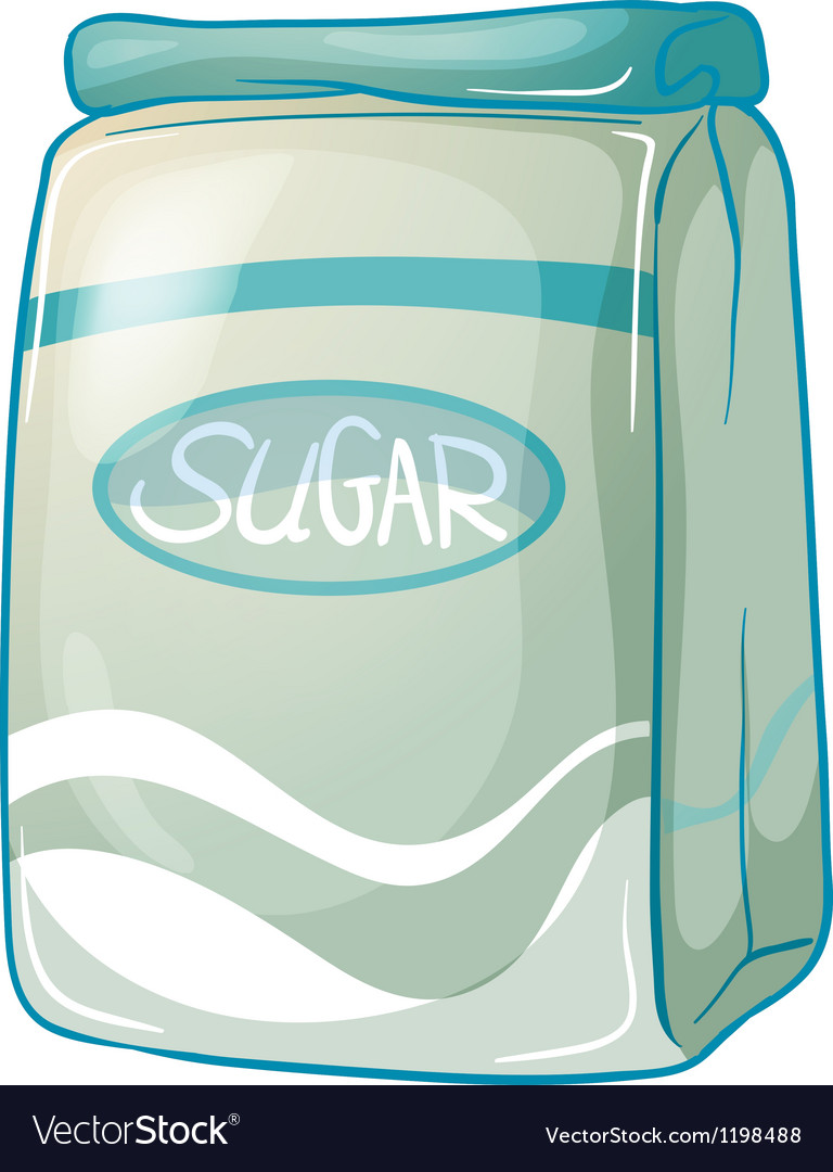 A pack of sugar vector