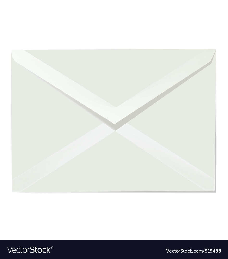 Letter envelope vector