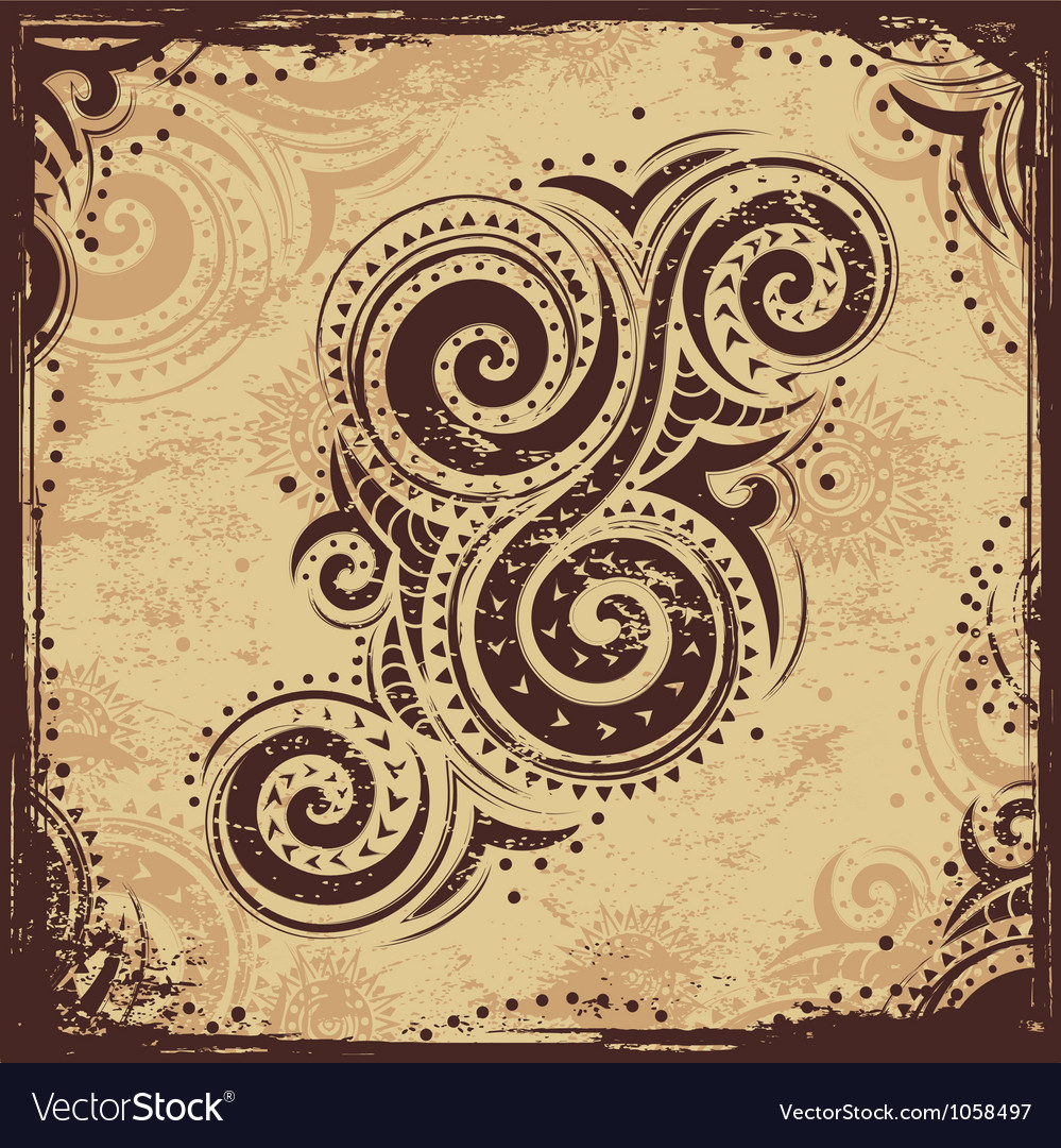 Tribal ornament vector
