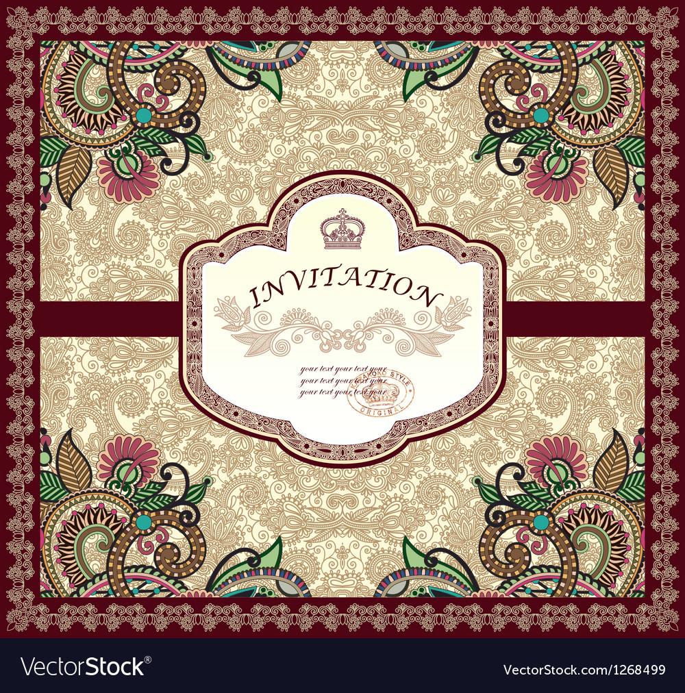 Ornate floral carpet background vector