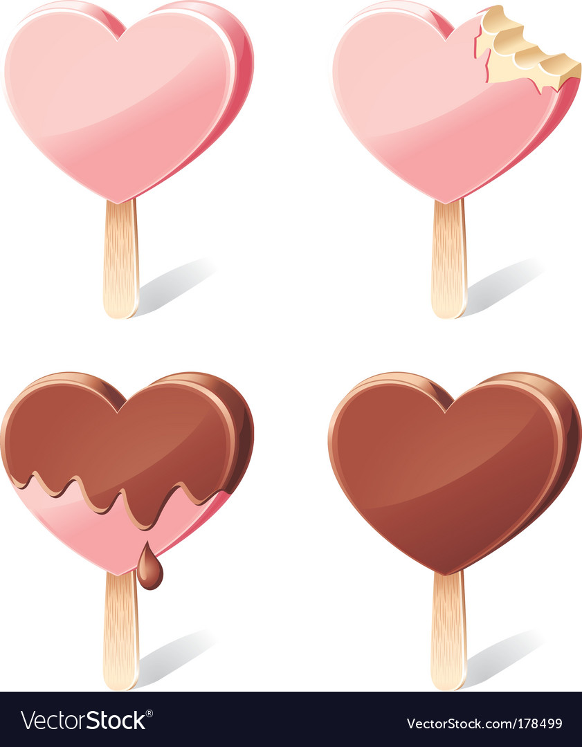 Yummy hearts vector