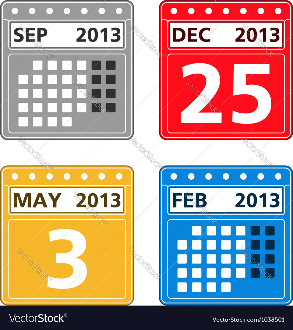 Simple calendar icons vector