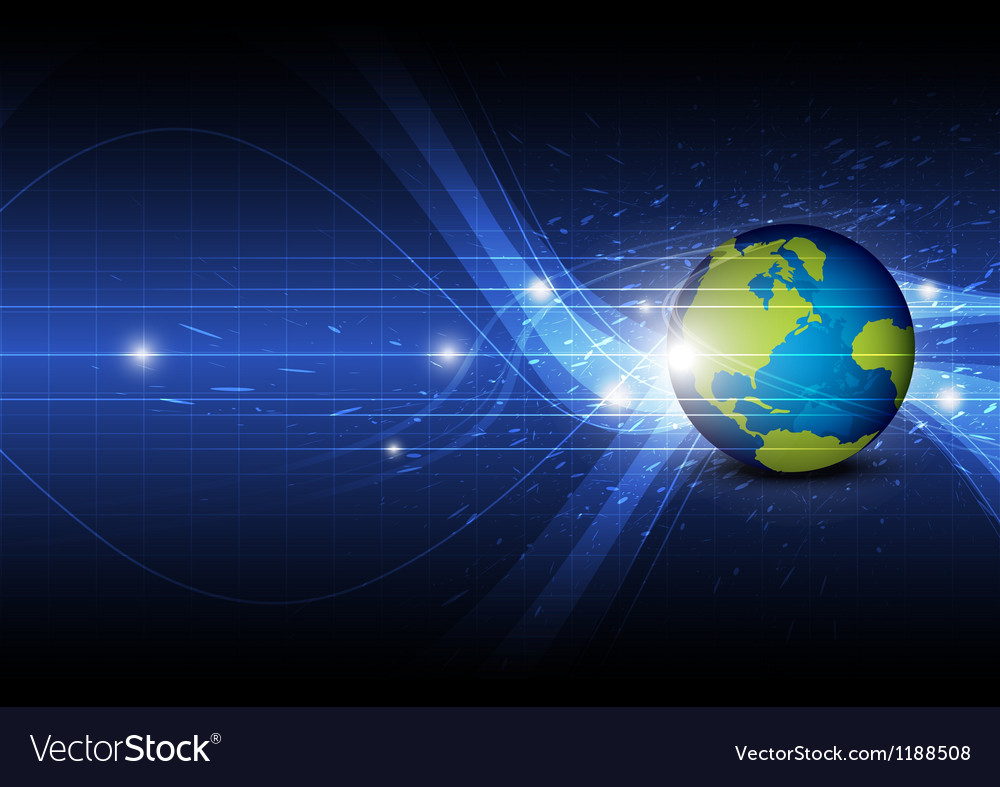 Global technology background vector