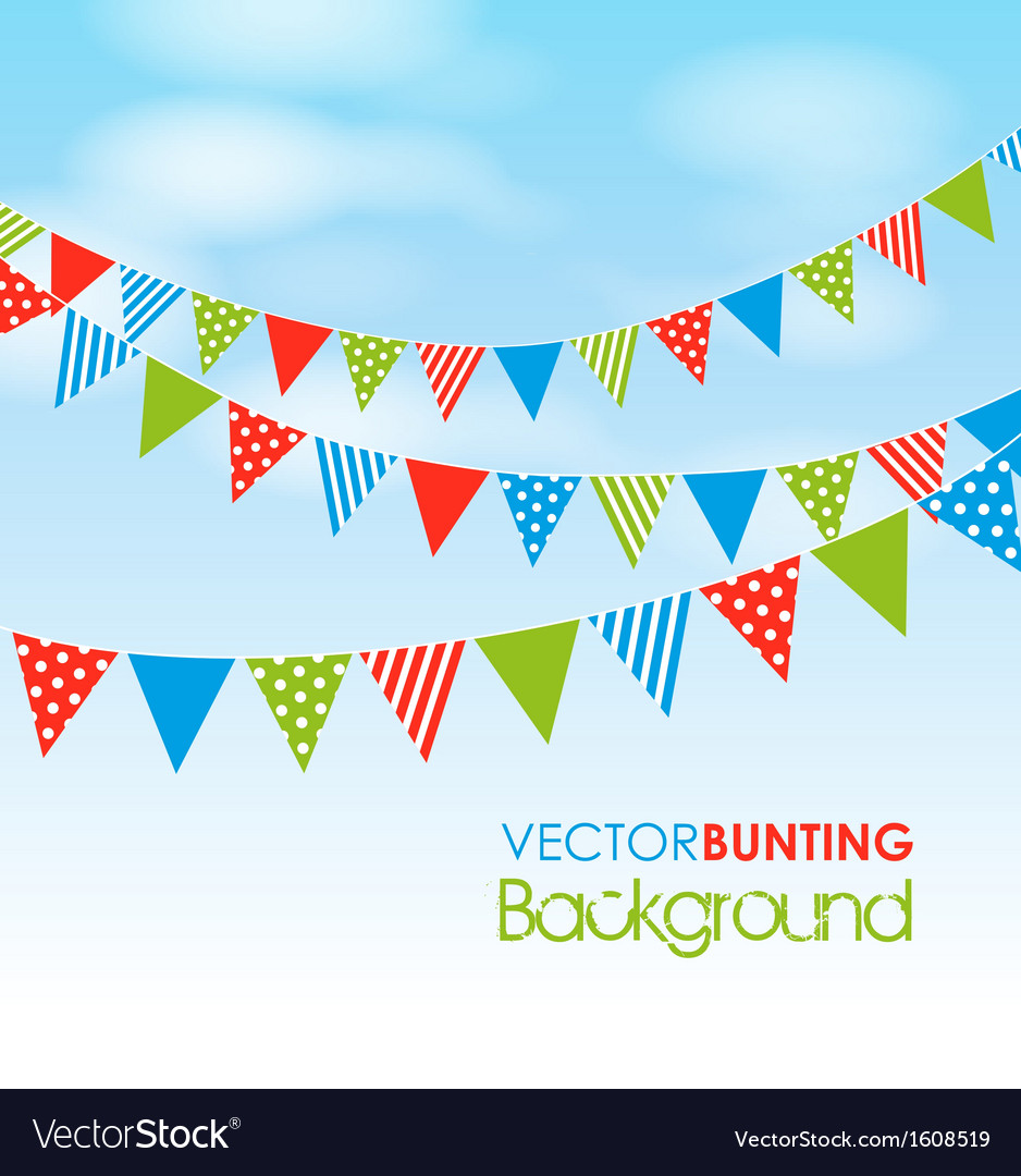 Colourful bunting vector
