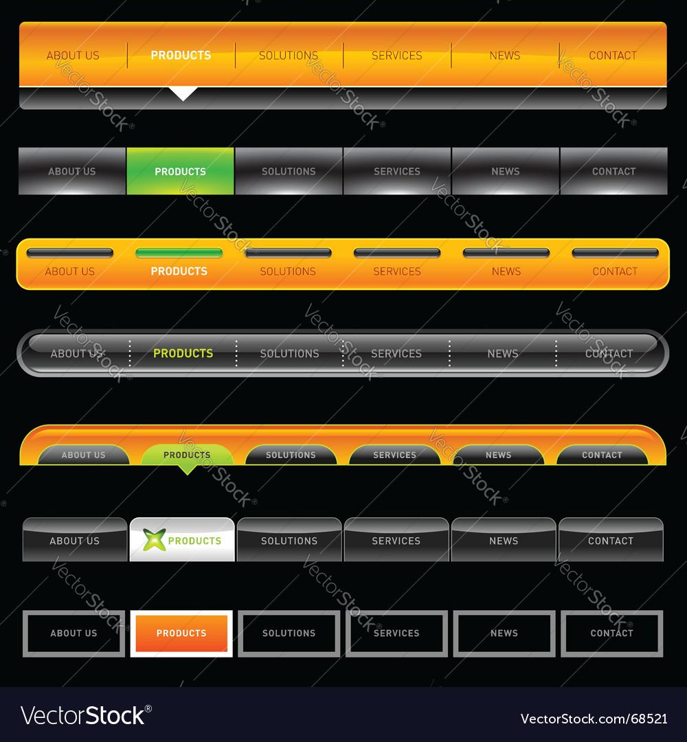 Web menu vector
