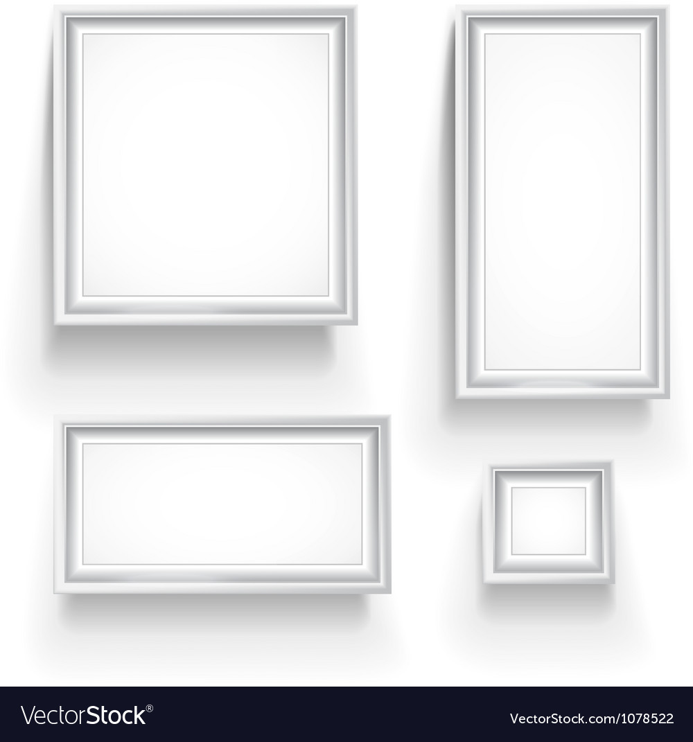 Gallery frames vector