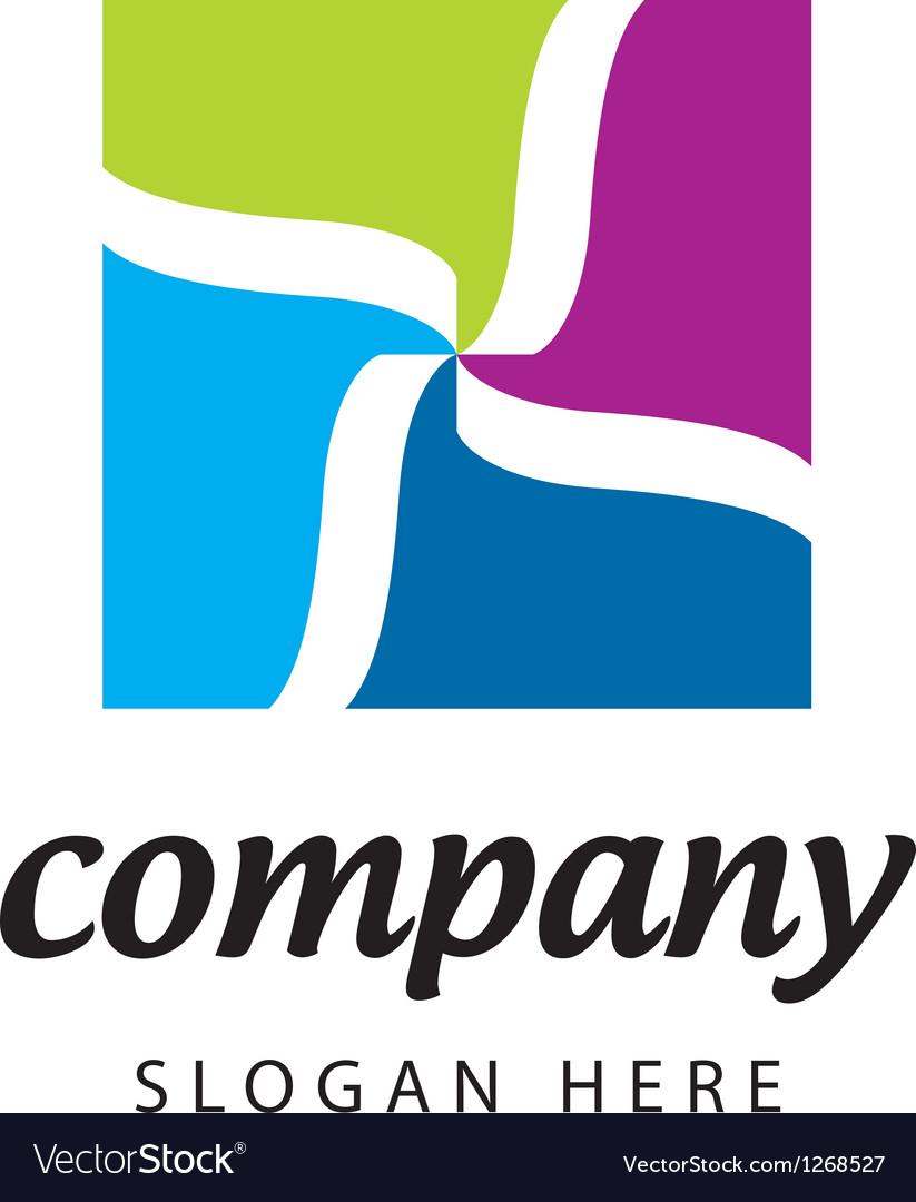 Logo textile company vector