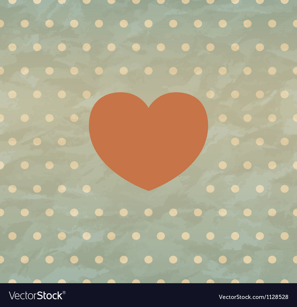 Retro background with heart vector