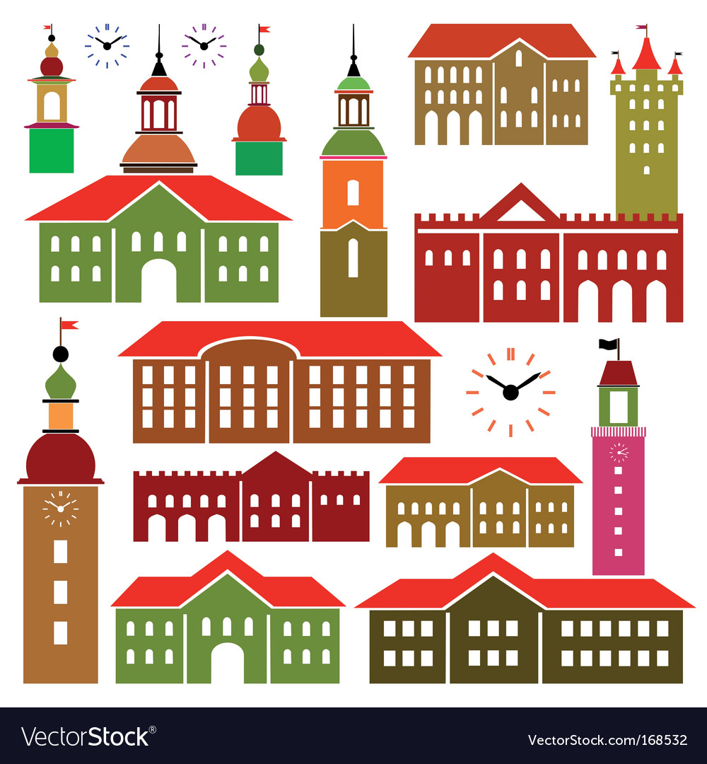 Architecture objects vector