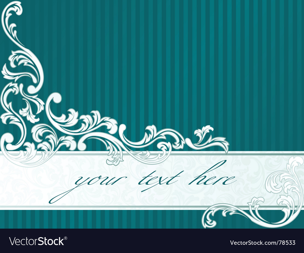 French retro banner in green vector
