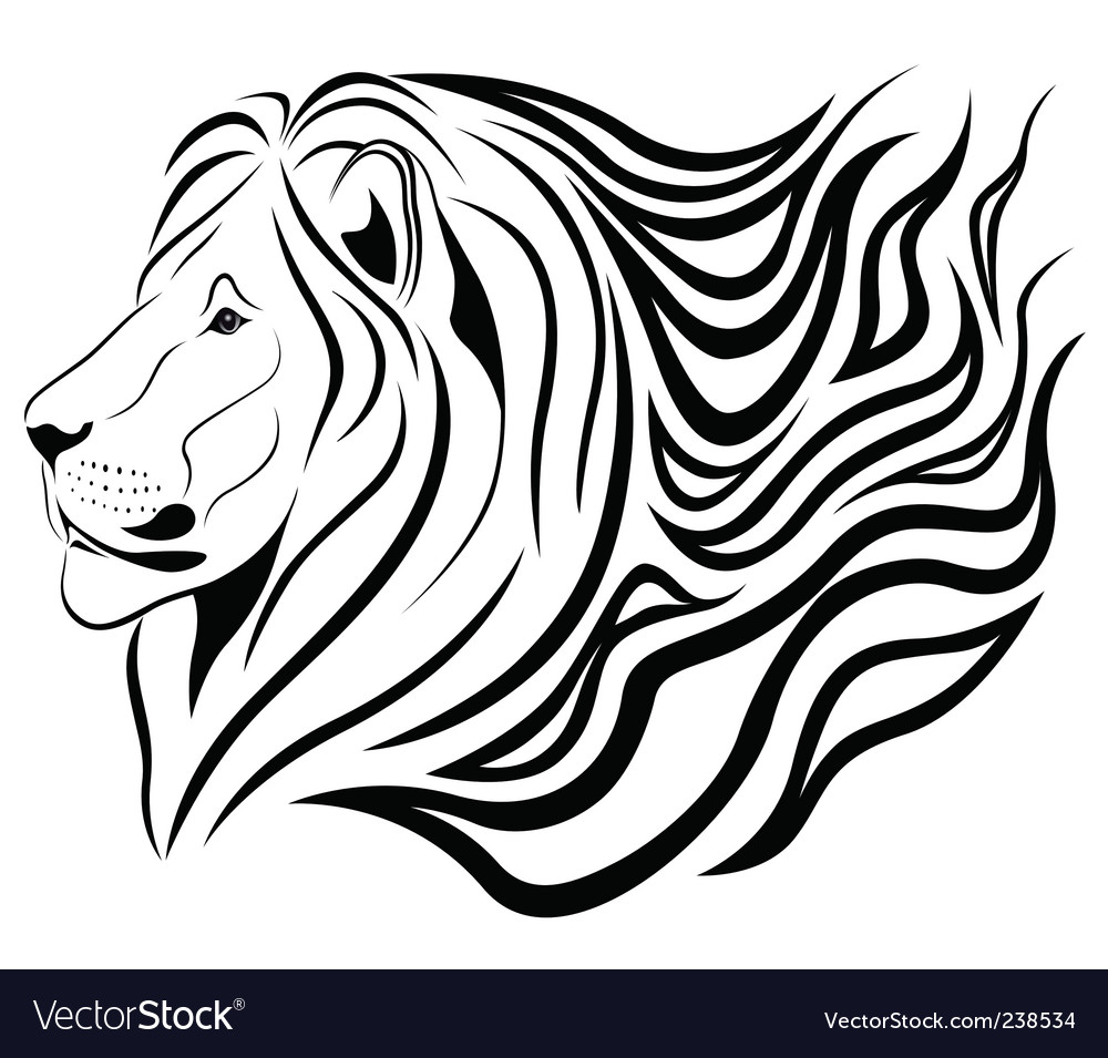 Lion tattoo vector