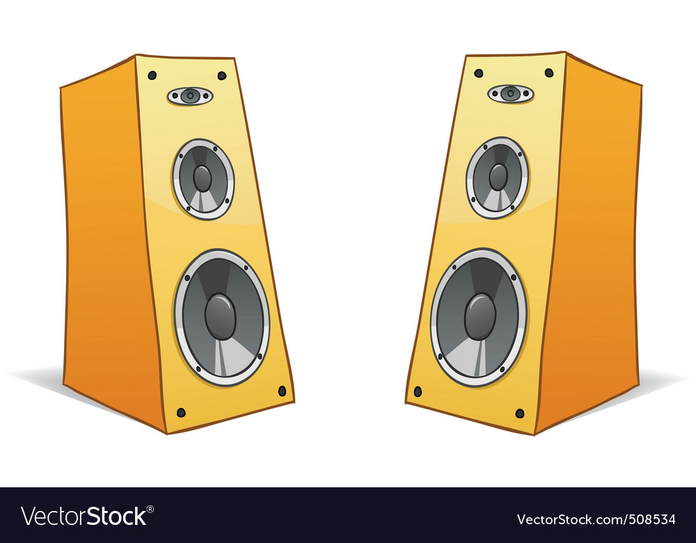 Two  cartoon speakers vector