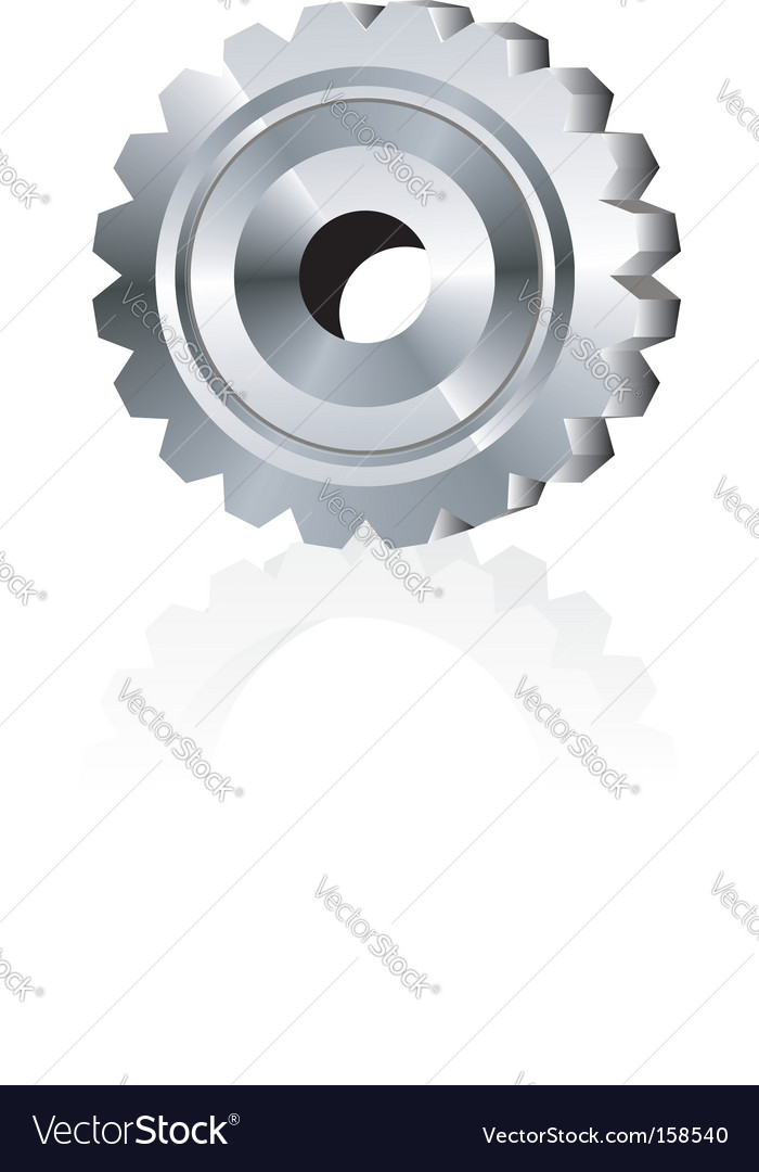 Metal gear vector