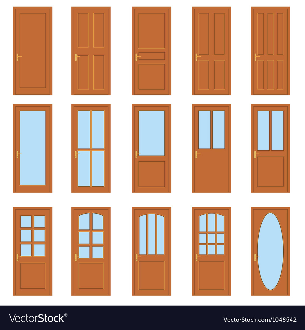 Set of the doors vector