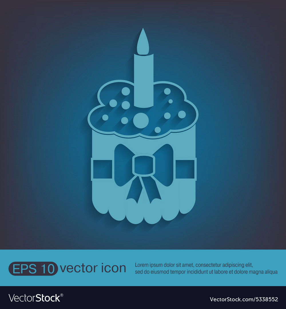 Birthday cake icon vector by Little_cuckoo - Image #5338552 ...