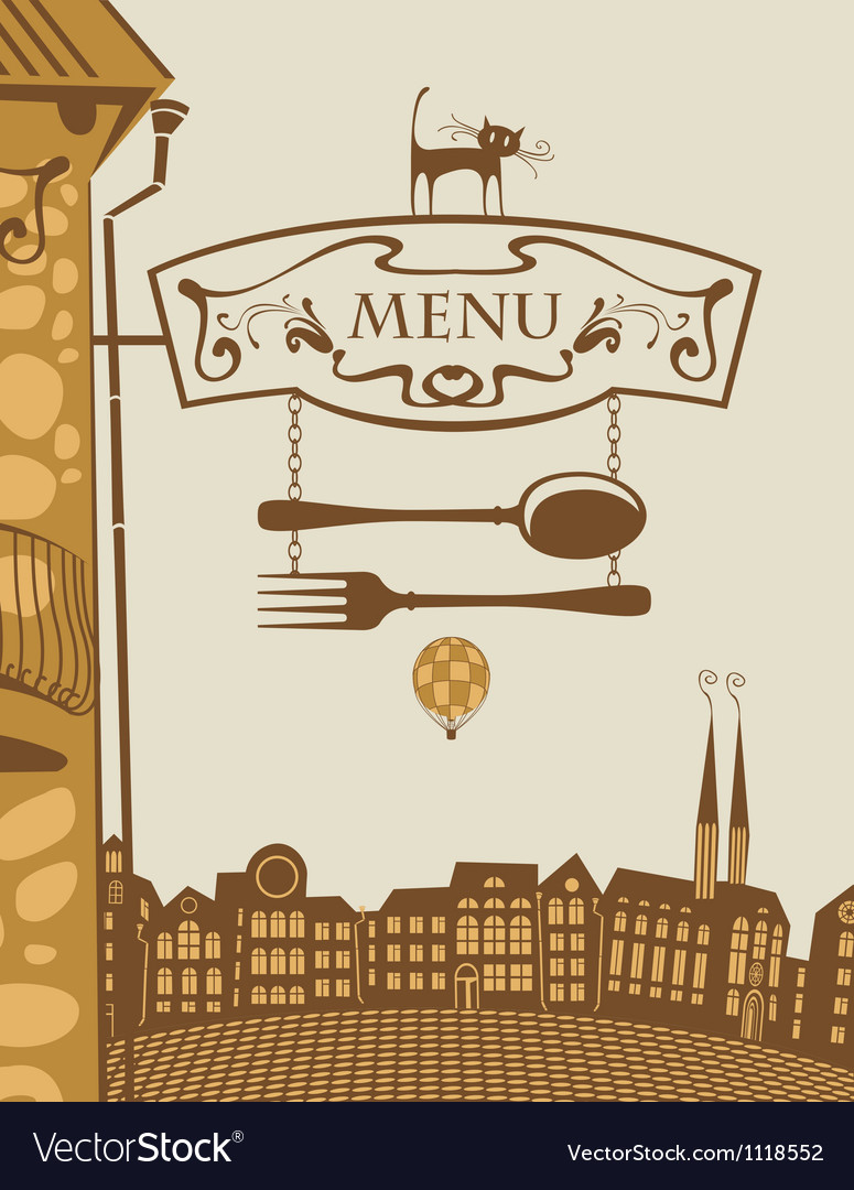 Menu architecture vector