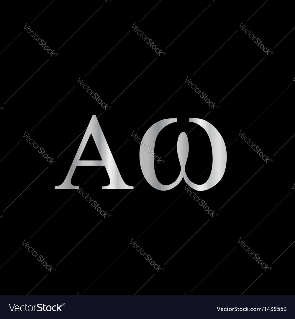 Greek letter- alpha and omega vector