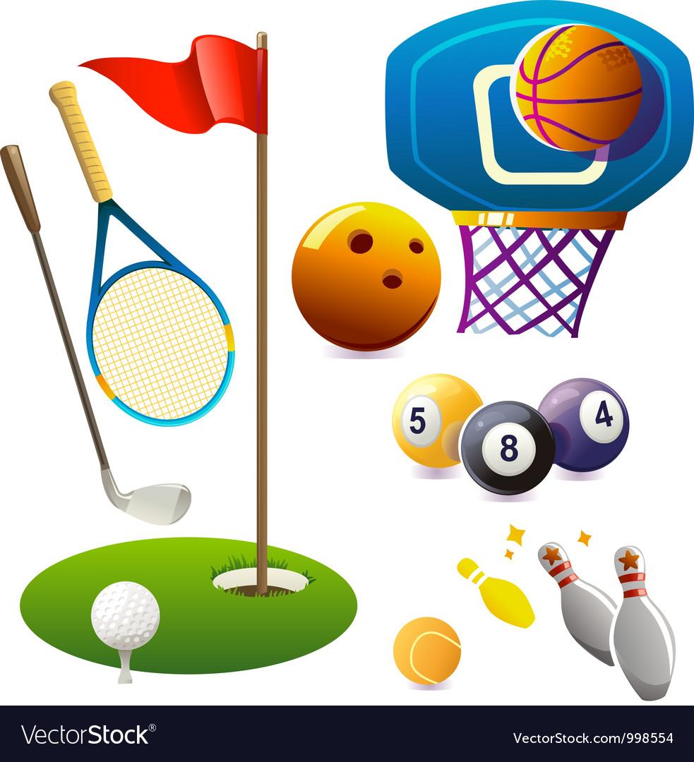 Set of sport symbols vector