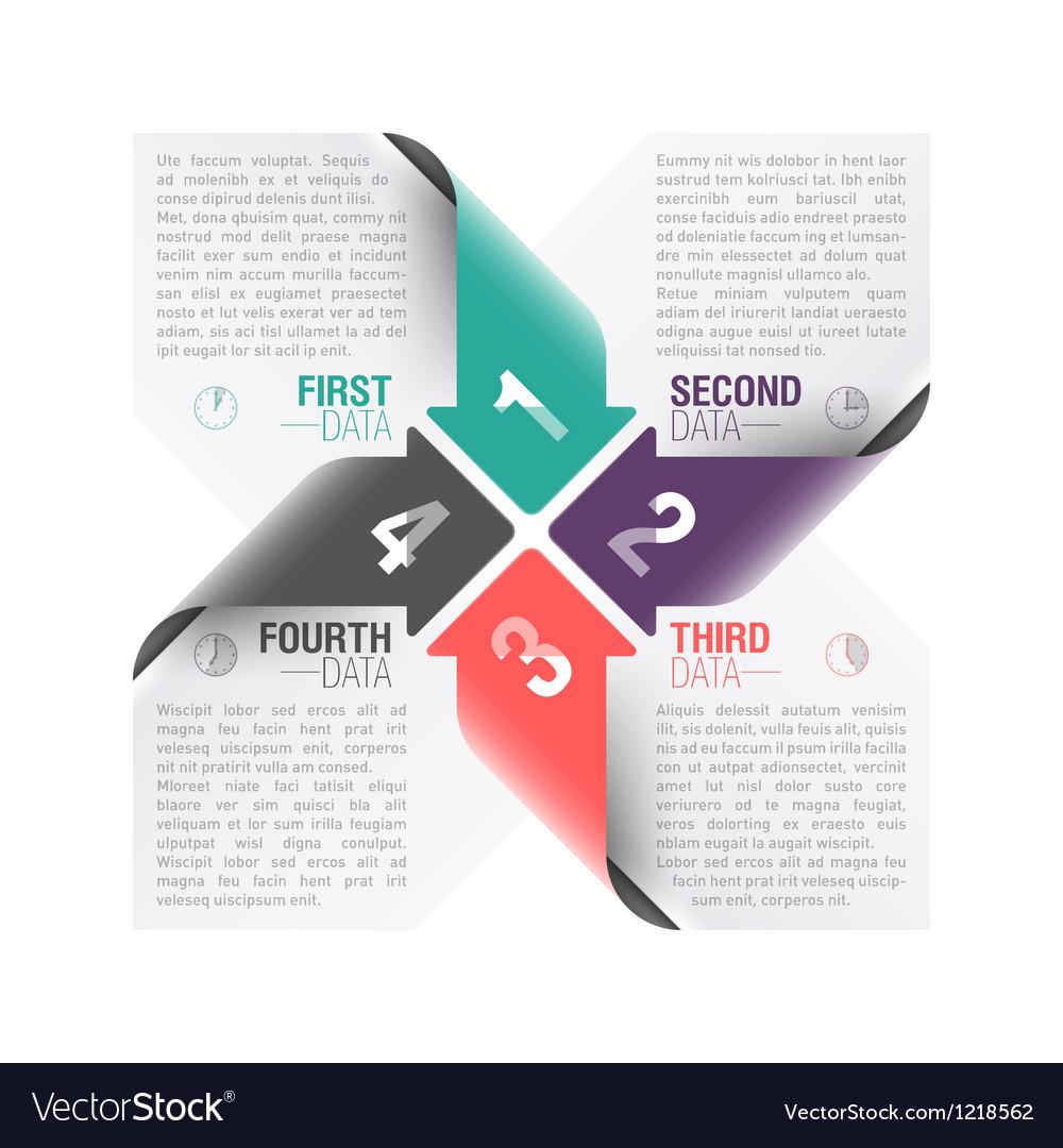 Arrows design template vector